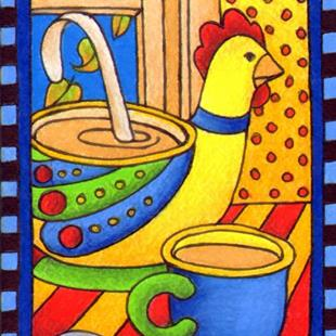 Art: Chicken Soup (sold) by Artist Shelly Bedsaul