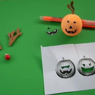 Art: Death of Rudolph Jack/Birth of Pumpkin Jack by Artist Sherry Key