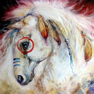 Art: APACHE the WAR PONY by Artist Marcia Baldwin