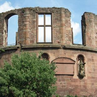 Art: Heidelberg Germany Deconstructed Castle by Artist Diane Funderburg Deam