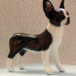 Art: 1/12th Scale Boston Terrier by Artist Camille Meeker Turner