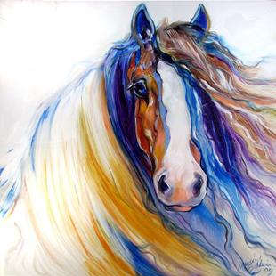 Art: GYPSY VANNER ROGUE by Artist Marcia Baldwin