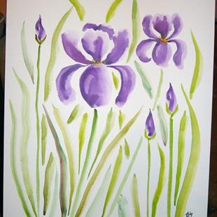 Art: Purple Irises by Artist Tracey Allyn Greene