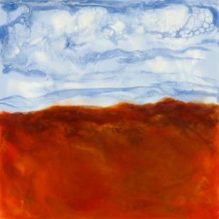 Art: Blue Sky, Red Clay by Artist Tracey Allyn Greene