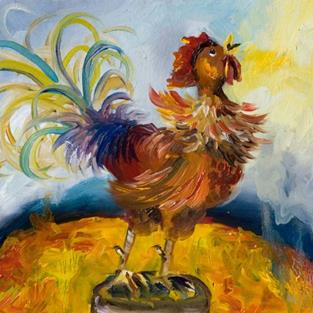 Art: Sunrise  Rooster No. 2 by Artist Delilah Smith