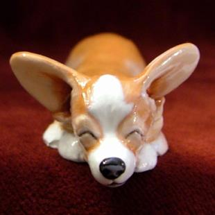 Art: Sleepy Corgi by Artist Camille Meeker Turner