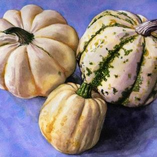 Art: Three Squash by Artist Mark Satchwill