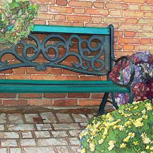 Art: Niagara Bench by Artist Carolyn Schiffhouer