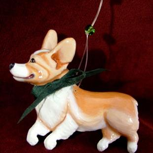 Art: Corgi Christmas Ornament #1 '09 by Artist Camille Meeker Turner