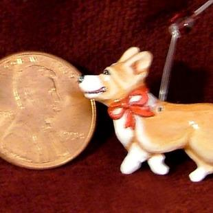 Art: Mini Corgi Christmas Ornament, '09 by Artist Camille Meeker Turner
