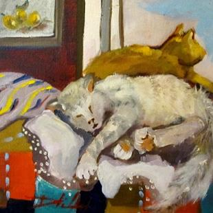 Art: Cat Nap by Artist Delilah Smith