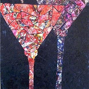 Art: Martinis for Two by Artist Ulrike 'Ricky' Martin