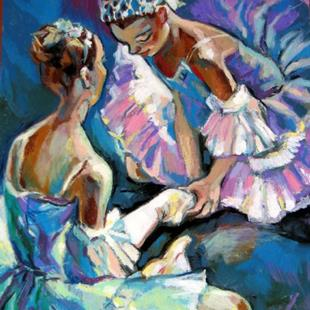 Art: Ballet Dancers by Artist Luda Angel