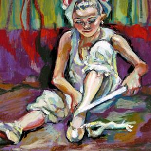 Art: The little Ballerina by Artist Luda Angel