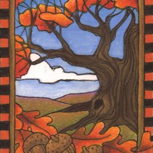 Art: Autumn Oak (sold) by Artist Shelly Bedsaul