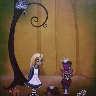 Art: Alice and The Mad Hatter by Artist Charlene Murray Zatloukal