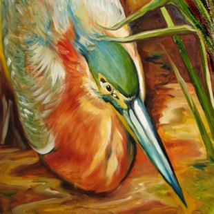 Art: GREEN HERON by Artist Marcia Baldwin