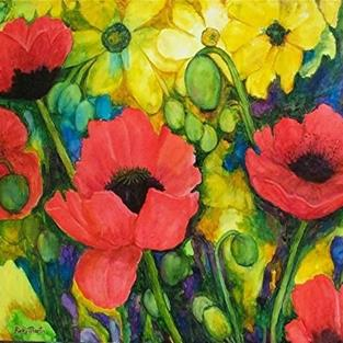 Art: Poppies Galore by Artist Ulrike 'Ricky' Martin