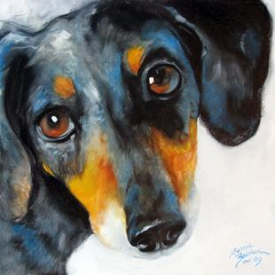 Art: DAPPLE DOXIE by Artist Marcia Baldwin