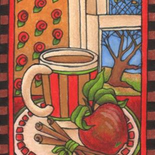 Art: Hot Apple Cider (sold) by Artist Shelly Bedsaul