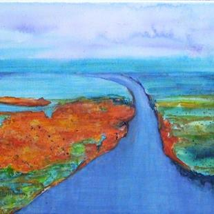 Art: Down by the River -available in my ebay store by Artist Ulrike 'Ricky' Martin