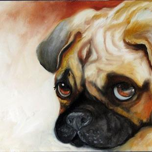 Art: CUTIE PIE PUG by Artist Marcia Baldwin