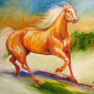 Art: PALOMINO RUN by Artist Marcia Baldwin