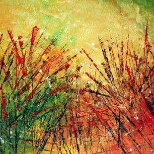 Art: AUTUMN GRASS by Artist LUIZA VIZOLI