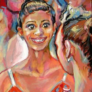 Art: Ballet dancers conversation by Artist Luda Angel
