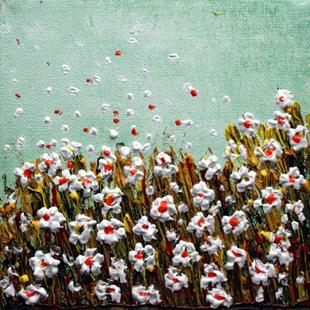 Art: WHITE FLOWERS FIELD  by Artist LUIZA VIZOLI