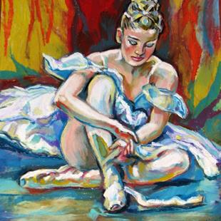Art: Ballet Dancer before performance by Artist Luda Angel