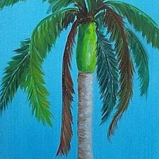 Art: Royal Palm Tree - sold by Artist Ulrike 'Ricky' Martin