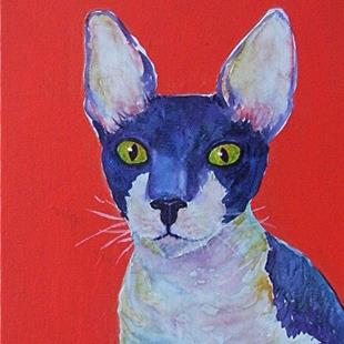 Art: Cornish Rex - sold by Artist Ulrike 'Ricky' Martin