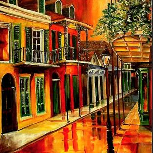Art: The Bold Vieux Carre' - SOLD by Artist Diane Millsap