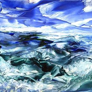 Art: Ocean Waves  (sold) by Artist Ulrike 'Ricky' Martin