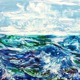 Art: Ocean Waves  3 (sold) by Artist Ulrike 'Ricky' Martin