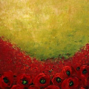 Art: SEA OF RED POPPIES by Artist LUIZA VIZOLI