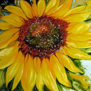 Art: SUNDOWN SUNFLOWER by Artist Marcia Baldwin