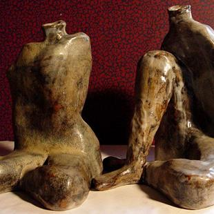 Art: Found Leg Pots by Artist Dawn Lee Thompson