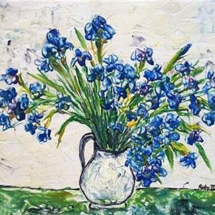 Art: Vincent's Iris (sold) by Artist Ulrike 'Ricky' Martin
