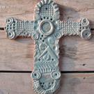 Art: Turquoise Cross by Artist Sherry Key