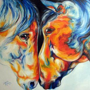 Art: PASO FINO FRIENDS  by Artist Marcia Baldwin