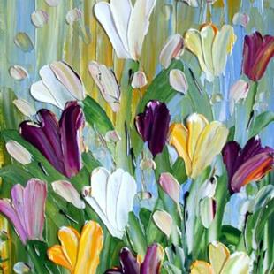 Art: FRESH TULIPS by Artist LUIZA VIZOLI