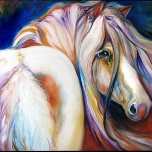 Art: GYPSY VANNER GLORY by Artist Marcia Baldwin