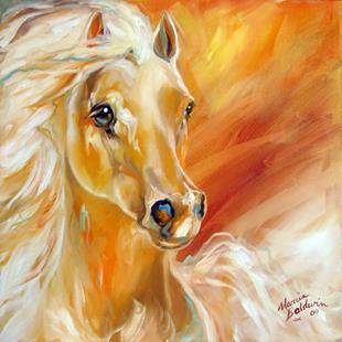 Art: THE GOLDEN EQUINE by Artist Marcia Baldwin