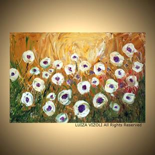 Art: WHITE POPPIES GARDEN by Artist LUIZA VIZOLI