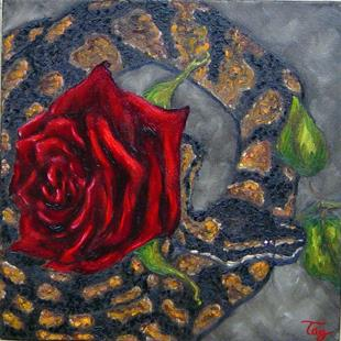 Art: Snake & Rose - For Alexis by Artist Tracey Allyn Greene