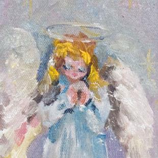 Art: Angel No.10 Praying Angel by Artist Delilah Smith