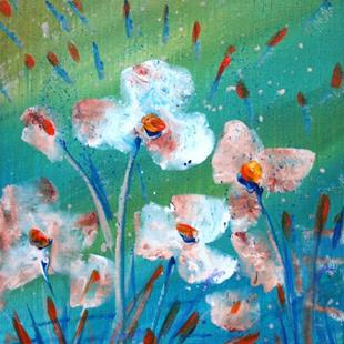 Art: WHITE FLOWERS in the RAIN  by Artist LUIZA VIZOLI