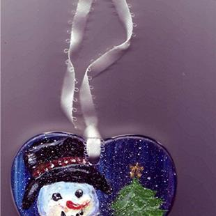 Art: Snowman Christmas Ornament by Artist Ulrike 'Ricky' Martin
